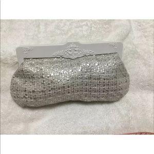 MAC Clutch Makeup Bag Silver & White